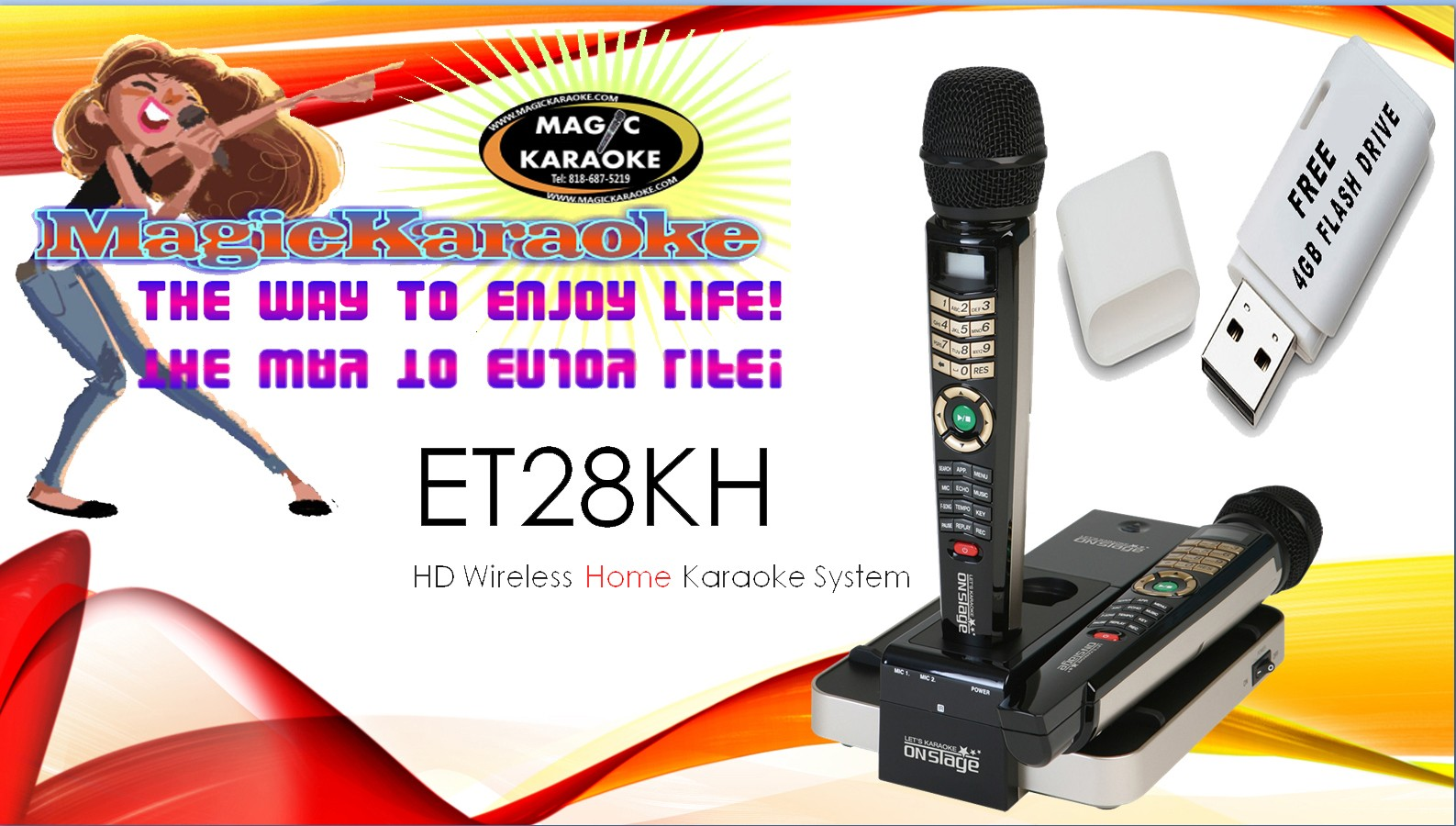 Magic Sing SPANISH 2015 ET28KH ONSTAGE Karaoke 2000 Songs