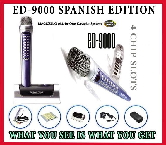 MAGIC SING KARAOKE MAGICMIC ED-9000 SPANISH LATINO SPECIAL
