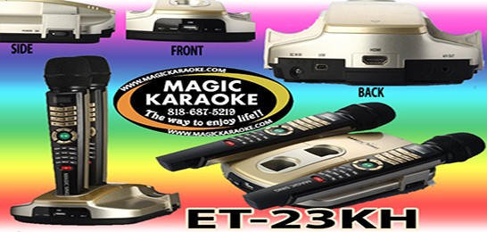 Magic Sing ET23KH  2,000 SPANISH ENGLISH SONGS Karaoke