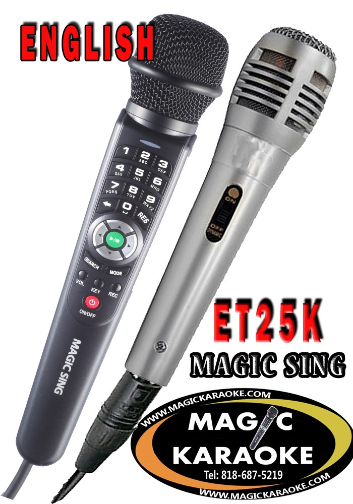 ENGLISH ET25K Magic Sing kARAOKE Magicmic