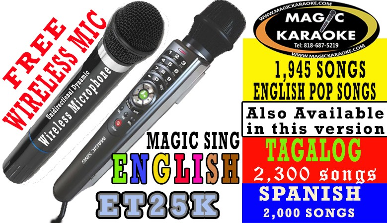 Magic Sing ENGLISH ET25K kARAOKE Magicmic