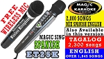 Magic Sing ET25K Spanish - FREE WIRELESS DUET MIC