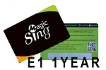 Magic Sing 1 YEAR STREAMING SUBSCRIPTION FOR MAGICSING E1