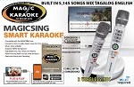 Magic Sing Karaoke E2 WiFi PLUS SUBMIC TWO Wireless Karaoke Mic OVER 5,000 SONGS MIX TAGALOG ENGLISH 16k TAGALOG + 12K POP + 2 YEARS SUBSCRIPTION