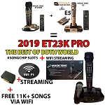 2019 ET23PRO 4 SONGCHIP SLOTS + WiFi 2 Wireless Mic MAGIC SING Karaoke 12K ENG+1 YEAR SUBSCRIPTION ACCESS INTERNATIONAL SONGS - 6,500+ Filipino /16,000+ Spanish and more...