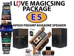 I Love MagicSing Package - Magicsing E5 bundled with magic sing KP-650 karaoke pre amp speaker system. KP-650 made by magic sing for magic sing