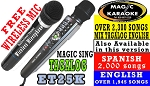 2017 MAGIC SING KARAOKE MIC ET25KN PINOY-FREE WIRELESS DUET