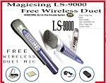 MAGICSING LEADSINGER KARAOKE LS-9000 WITH WIRELESS DUET SUB MIC 1,751 MIX TAGALOG ENGLISH SONGS