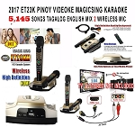 2017 MAGIC SING KARAOKE MIC ET23K PINOY VIDEOKE