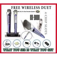 Magicsing ED-9000 + Wireless Duet Mic 2064 Songs Built-in