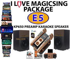 Magic Sing E5 and KP-650 PARTY Bundle Package 2 Wireless Mics · 1 YEAR SUBSCRIPTION W/MORE THE 16,500 TAGALOG OPM + FOREVER NO SUBSCRIPTION 12000 English POP Songs
