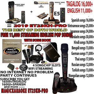 2019 Magic sing karaoke mic ET23PROPH PINOY VIDEOKE -free forever streaming 12,000+ with song book