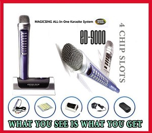 ED-9000 Magic sing karaoke magicmic OVER 2000 BUILT-IN ALL TIME FAVORITE POP ENGLISH SONGS
