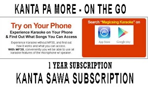 1 YEAR KANTA SAWA UNLI KARAOKE SUBSCRIPTION