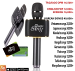Magic Sing MP30 Bluetooth Karaoke Mic + Speaker FREE 1 Year KANTA SAWA