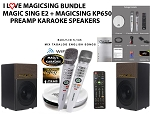 I Love MagicSing Package - Magicsing E2 Bundled with magic sing KP-650 karaoke pre amp speaker system. KP-650 made by magic sing for magic sing