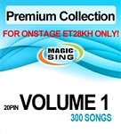 Magic Sing 20 Pin Premium Collection Vol 1 Song Chip for Onstage