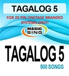 Magic Sing 20 Pin Tagalog5 Song Chip for Onstage